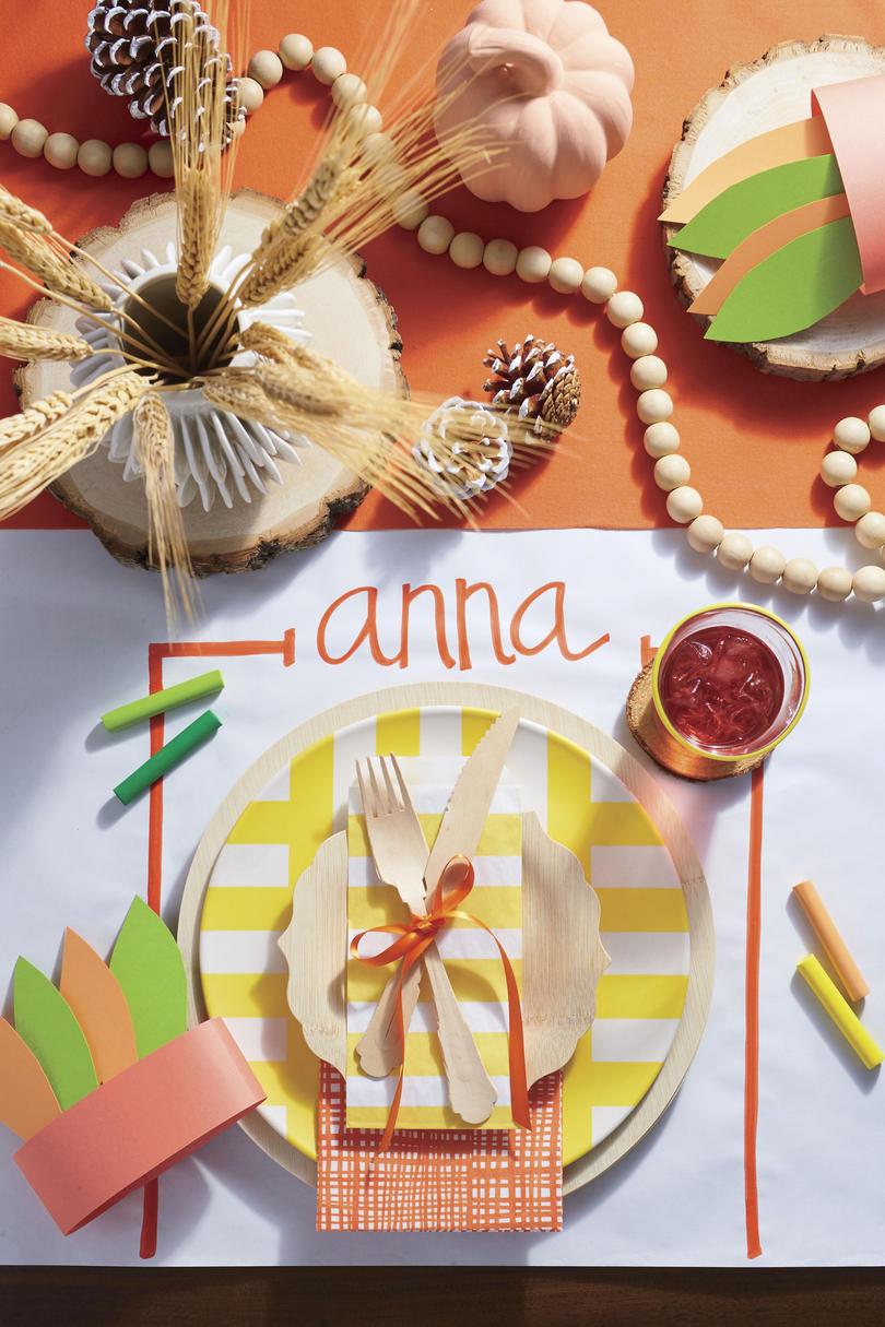 Kids Table Place Setting with Place Card