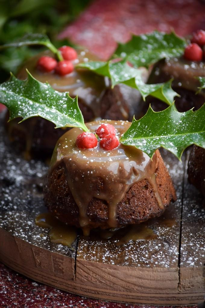 Brown Butter Gingerbread Figgy Puddings