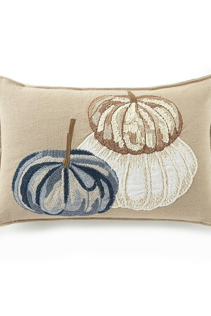 Embroidered Breakfast Fall Throw Pillow