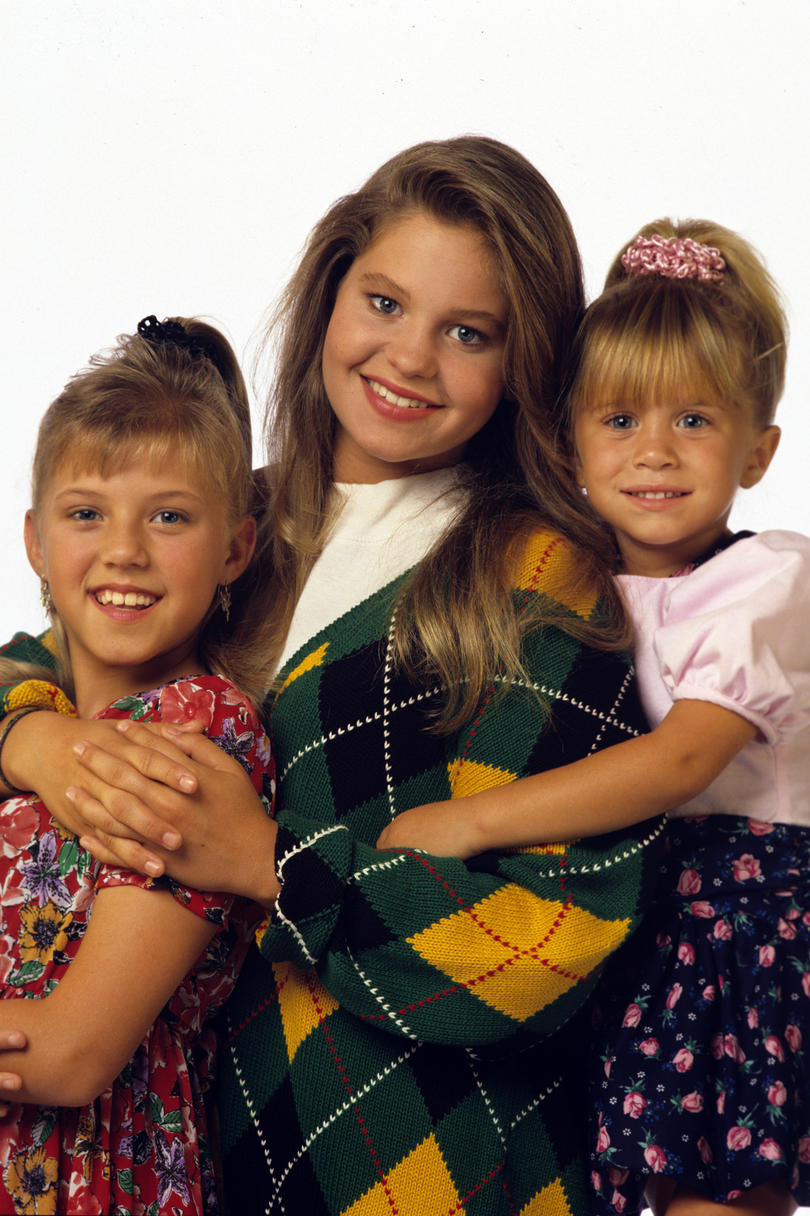 D.J., Stephanie, and Michelle Tanner from Full House