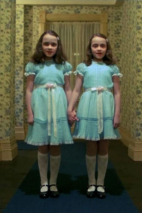 RX_1810_Celebrity Sister Costume Ideas for Halloween_Lisa and Louise Burns, the twins from The Shining