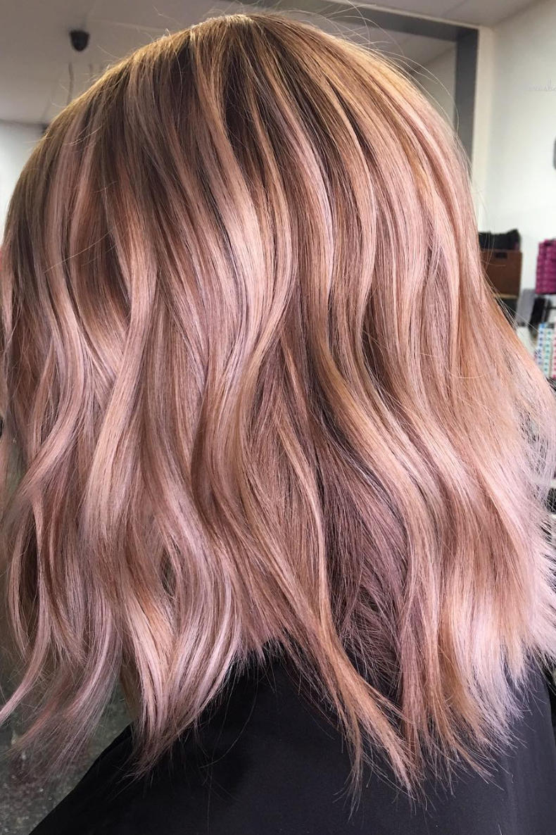Dusty Rose Balayage