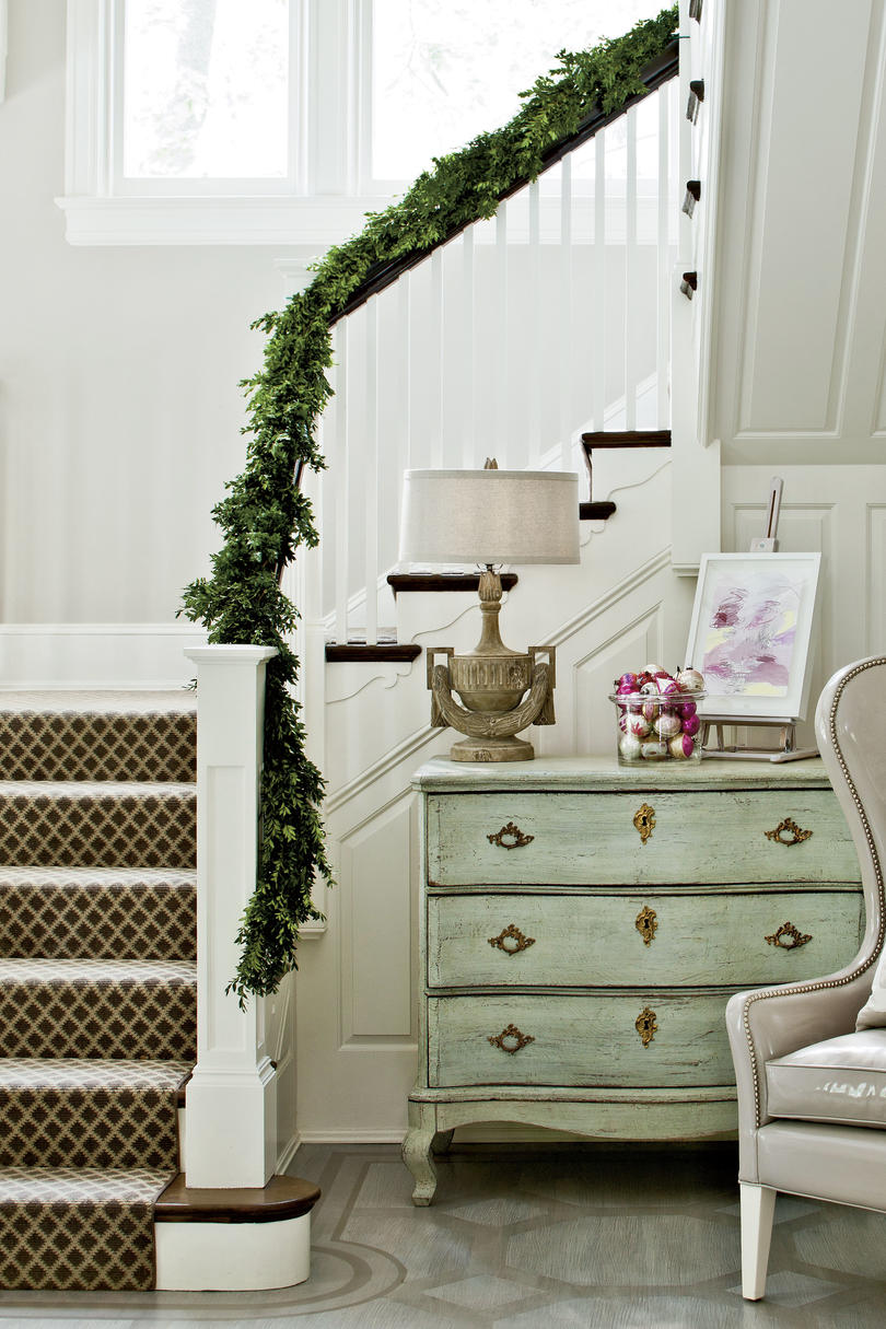 Boxwood Up the Stairs