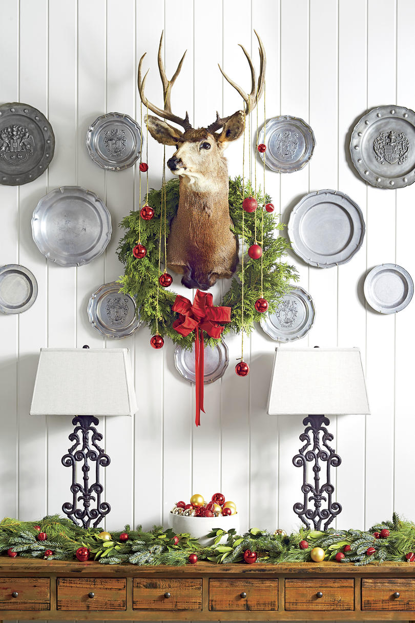 Deer with Wreath and Ornaments