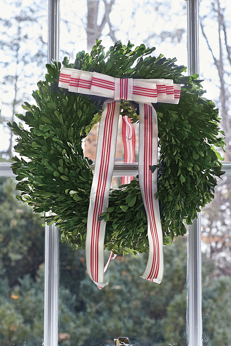 Natasha Lawler Preserved Boxwood Wreaths for Christmas