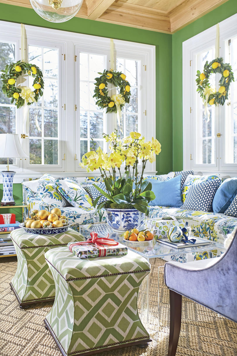 Natasha Lawler Charlottesville Home Green Sunroom