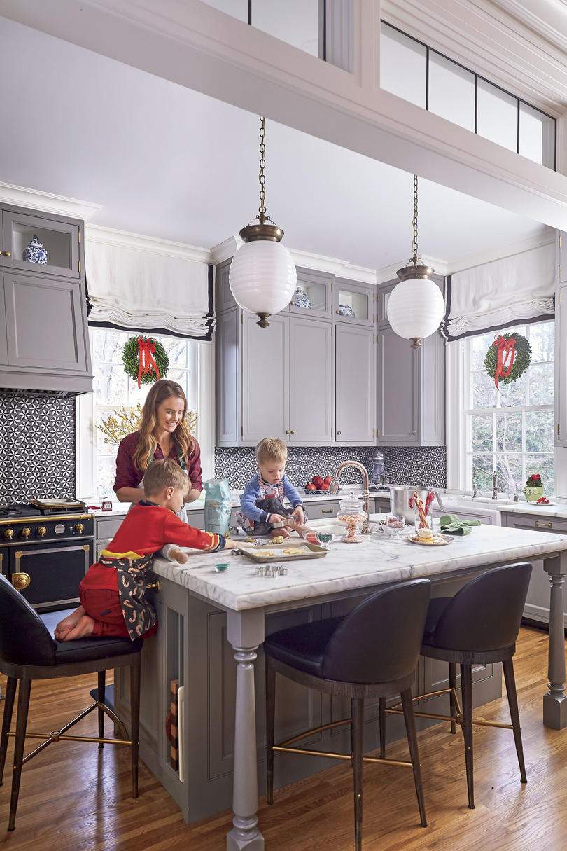 Natasha Lawler Charlottesville Home with Gray Kitchen