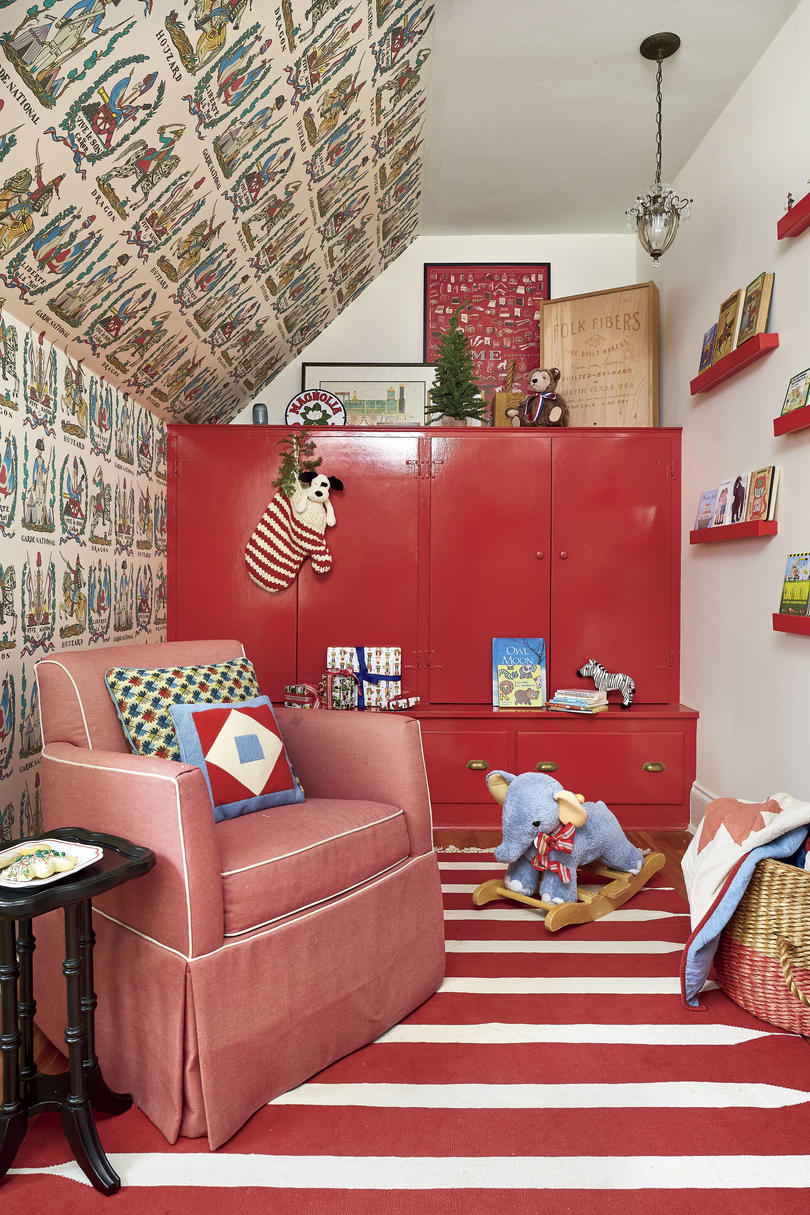 Natasha Lawler Charlottesville Home Red Boys Bedroom