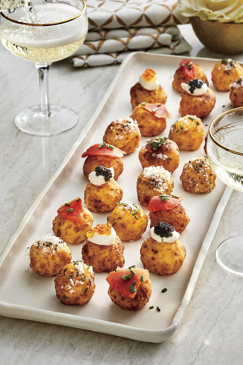 Potato Puffs with Toppings