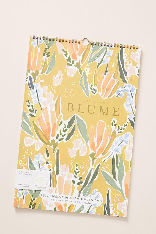 Seedlings Blume 2019 Wall Calendar