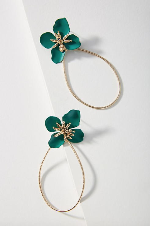 1708_ Unique Jewelry Gifts Under $50 Gardenia Drop Earrings