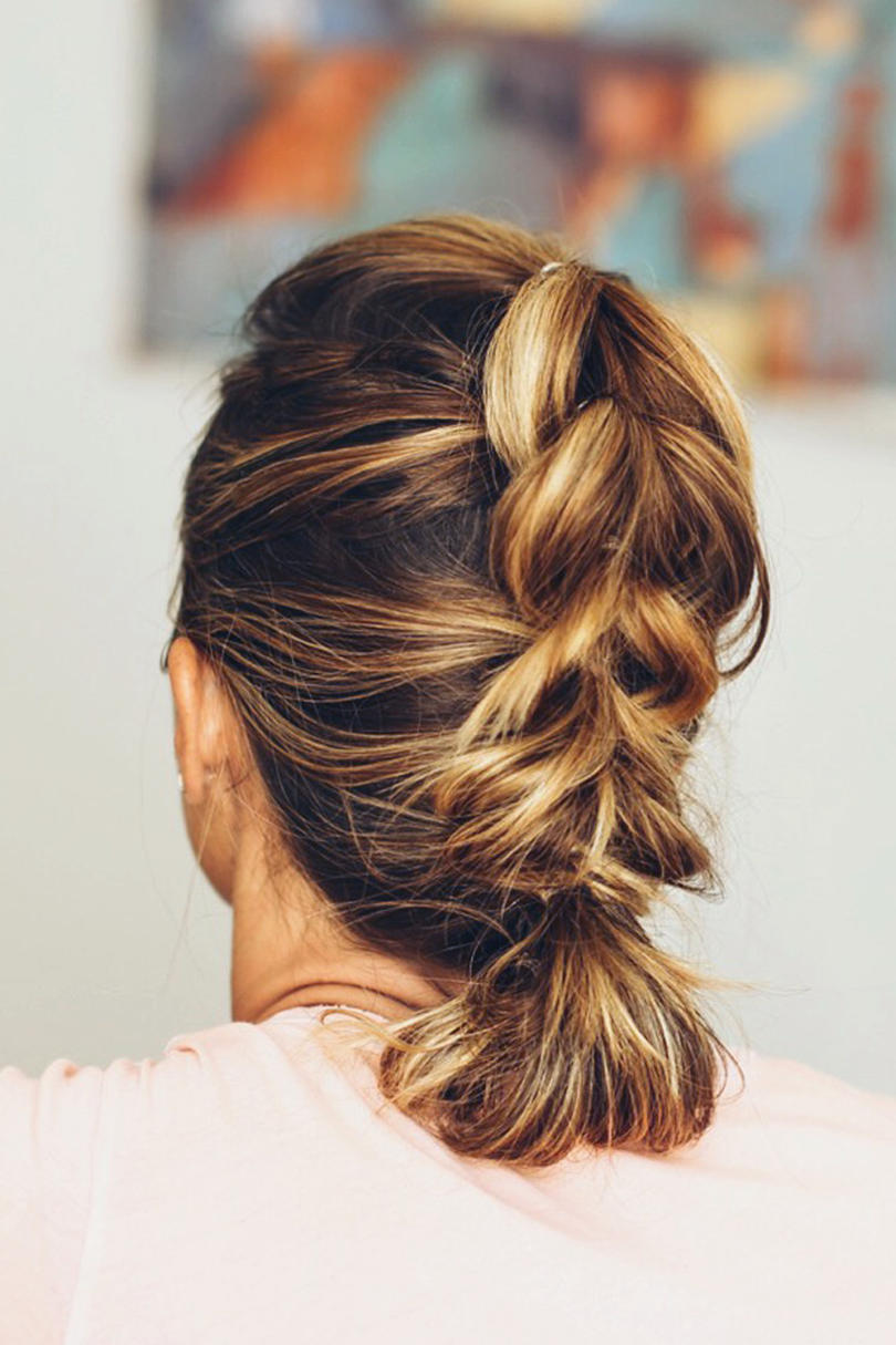 hair up styles for work updos for hair southern living 1009 | french pull through braid