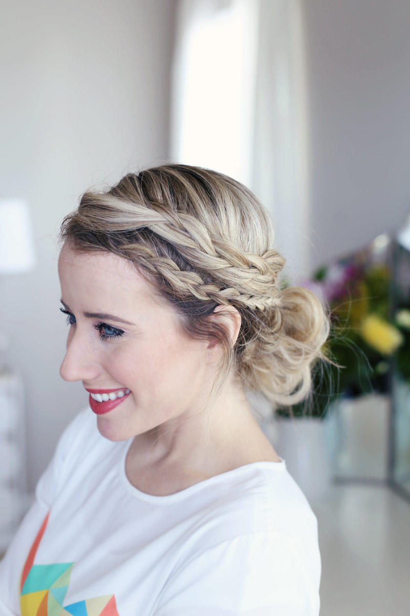 Laced Braid Updo