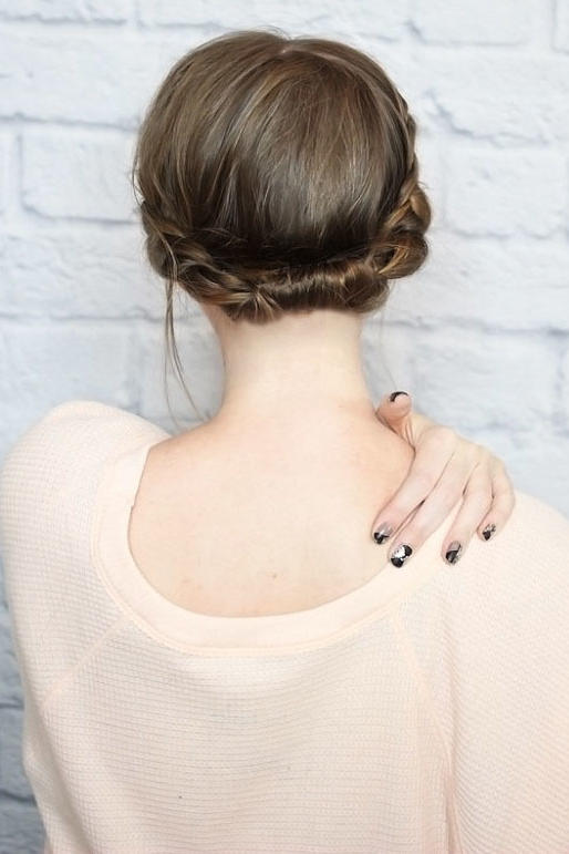 Quick Rolled Braid Updo