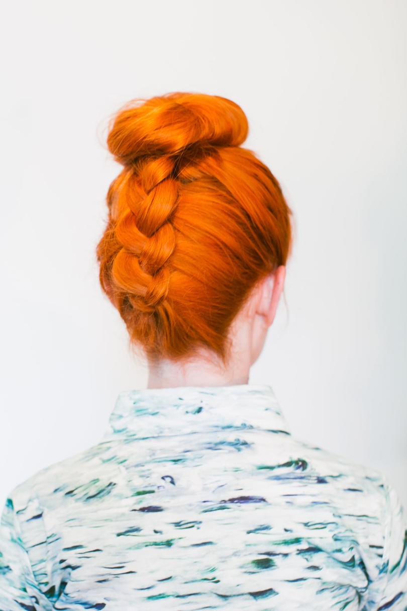 The Upside Down Braided Top Knot