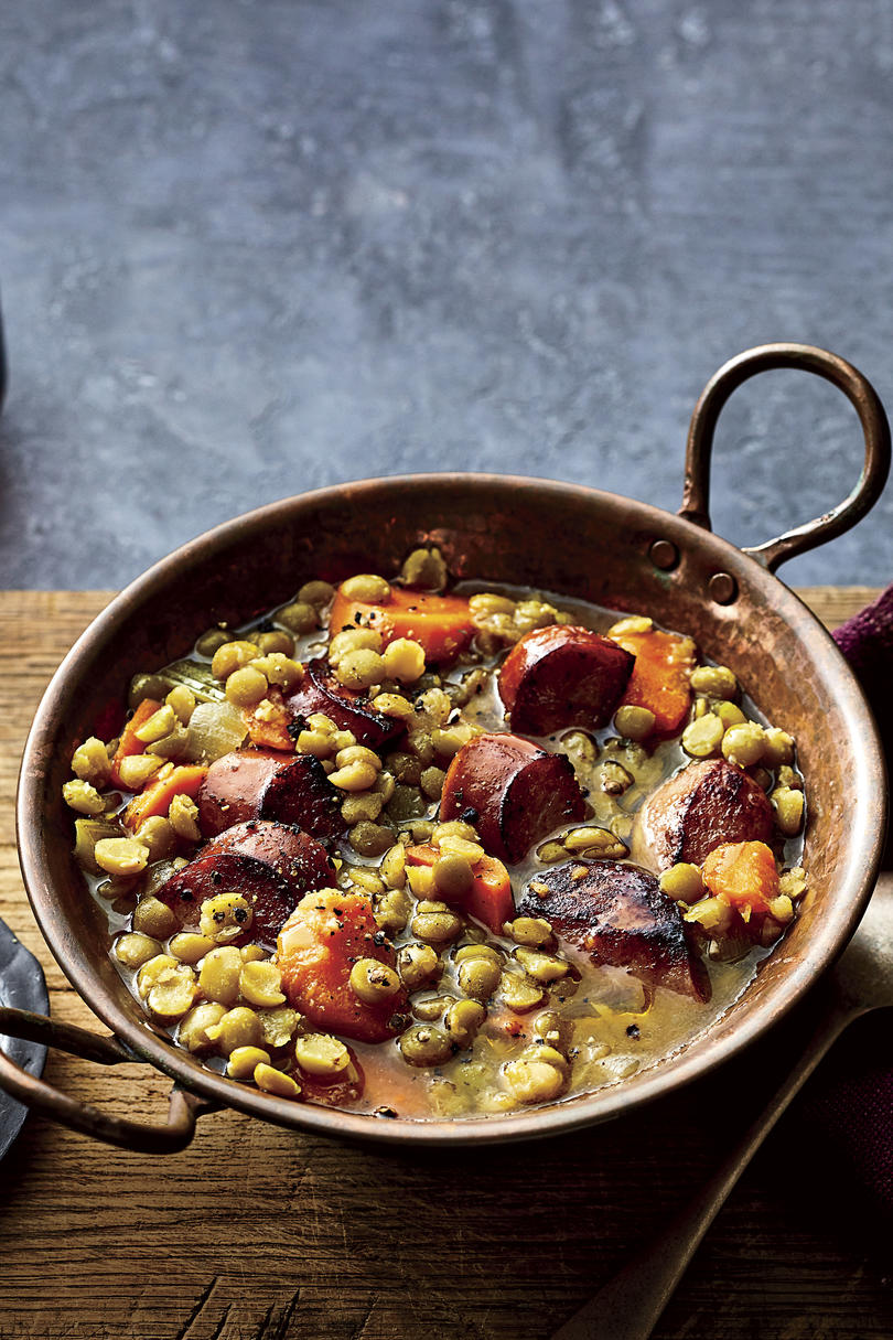 Smoky Split Pea-and-Sausage Soup