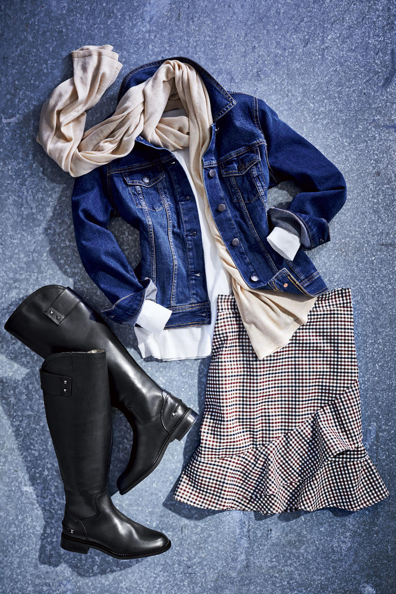 RX_1901_Denim Jacket_Skirt and Boots