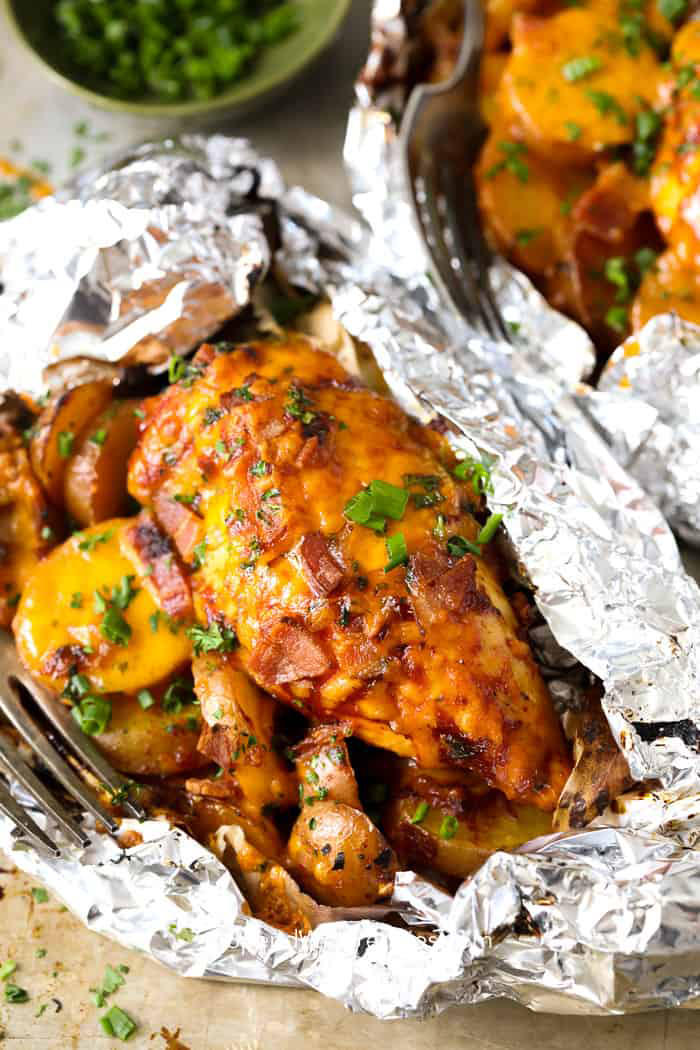 Barbecue Chicken Foil Packets
