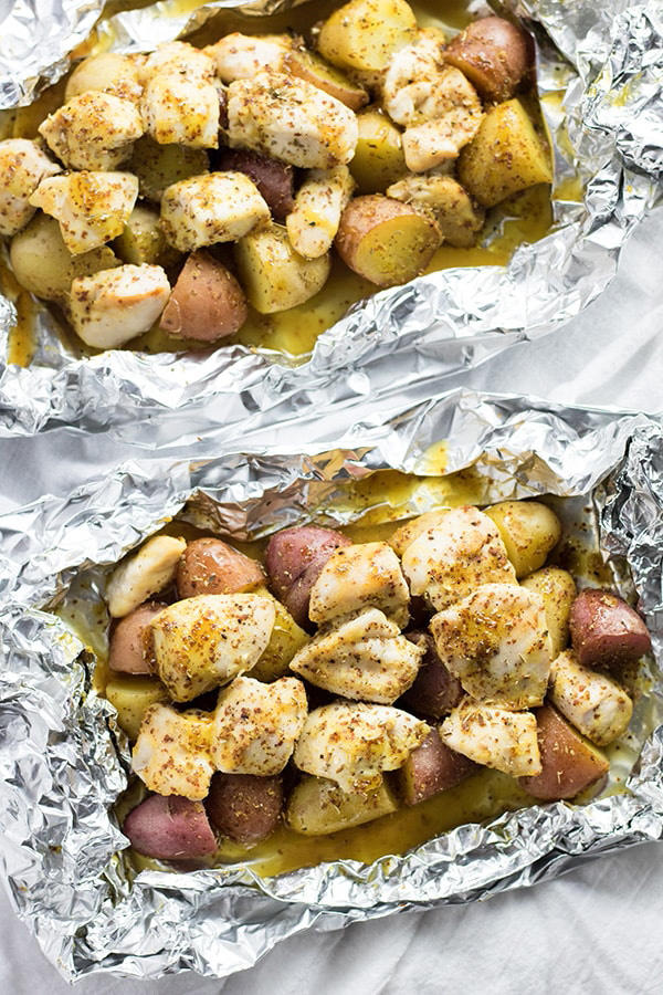 Honey Mustard Chicken Foil Packets