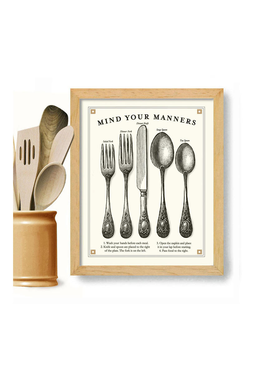 Mind Your Manners Print