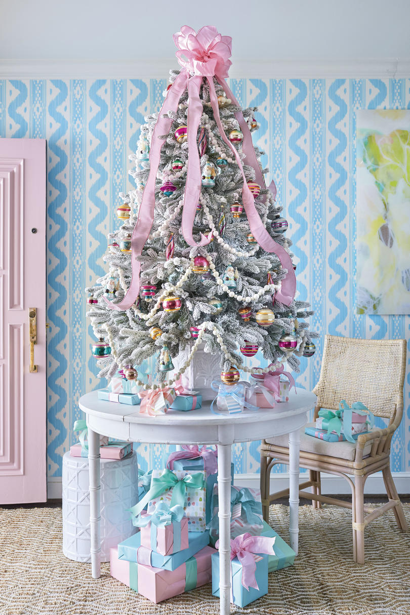 Pink Christmas Tree Ribbon