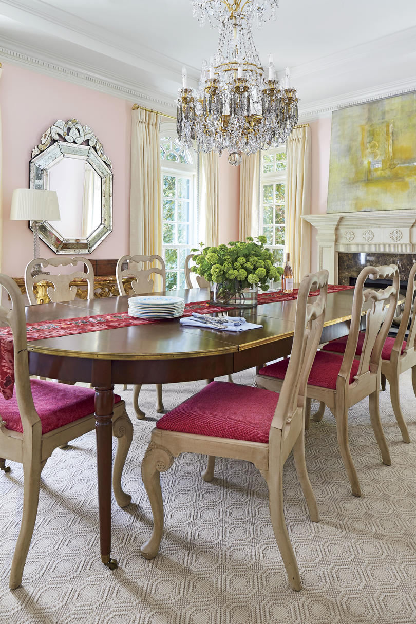 Margaret Kirkland Georgian Makeover Pink Dining Room