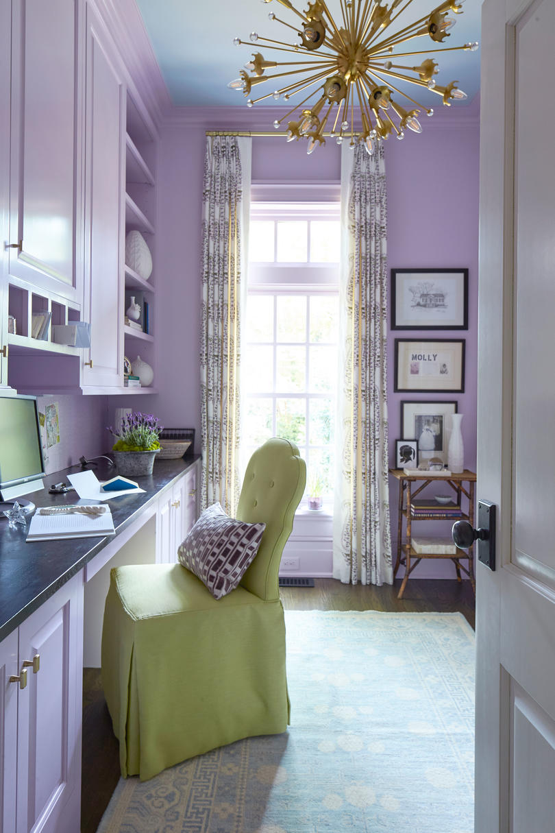 Margaret Kirkland Georgian Makeover Purple Office