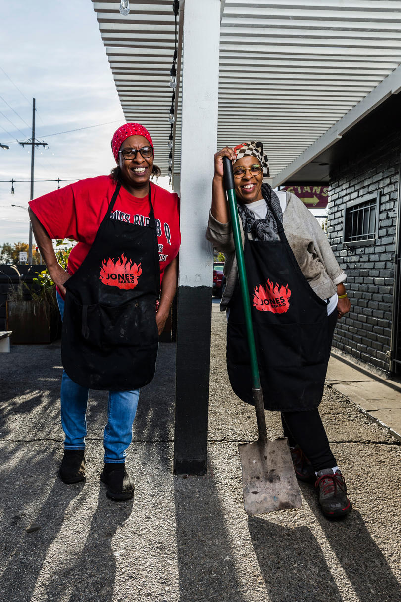 Deborah Jones and Mary Jones of Jones Bar-B-Q in Kansas City, KS