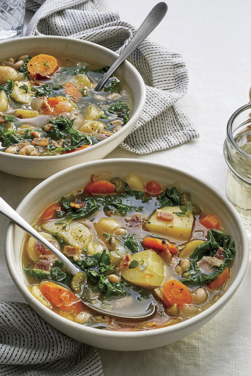 Slow-Cooker Winter Vegetable Soup with Bacon