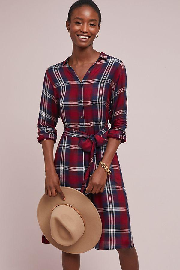 Tilda Plaid Shirtdress