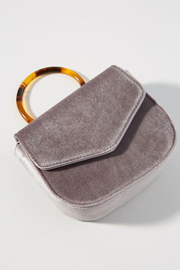Lucite-Handled Ring Bag