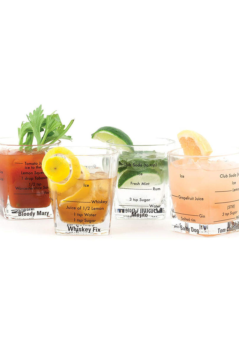 Kikkerland Bartending Glasses (Set of 4)