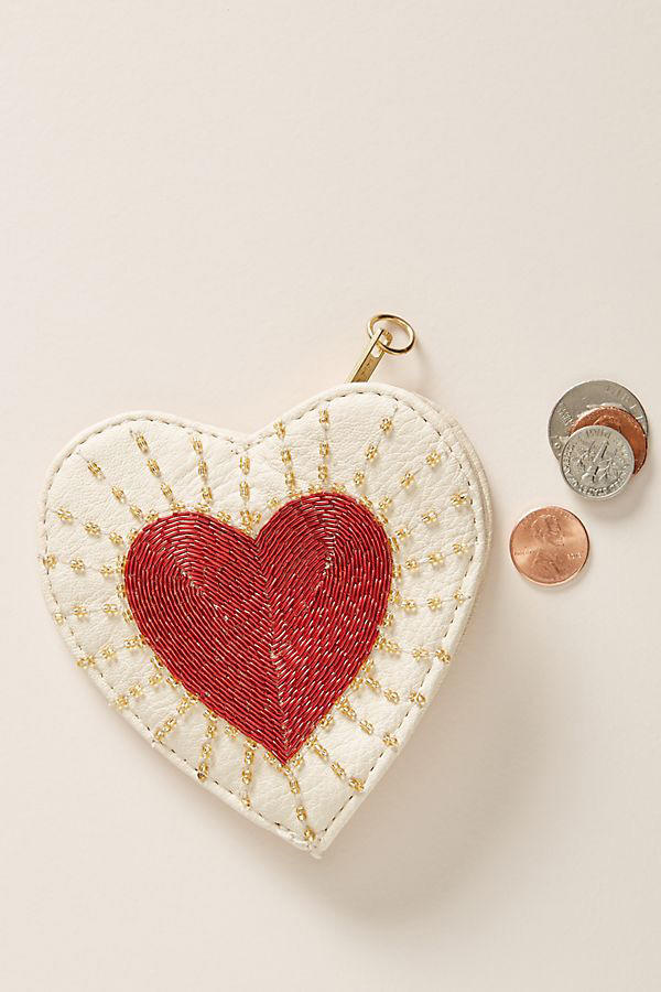 Embellished Heart Pouch