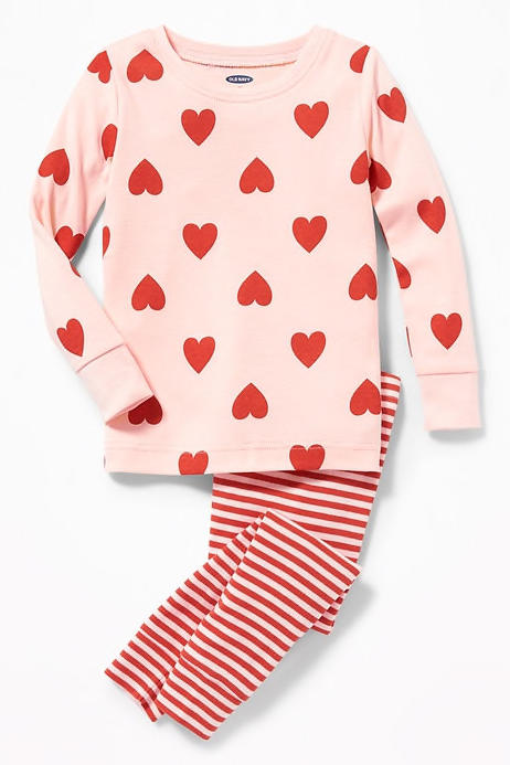 2-Piece Heart-Print Sleep Set for Toddler & Baby