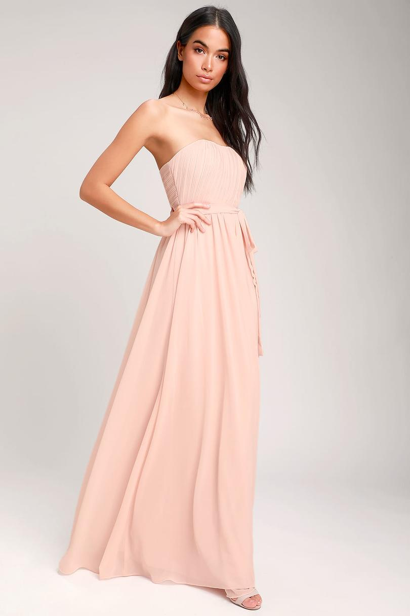 Lulu's Be In Love Strapless Maxi Dress