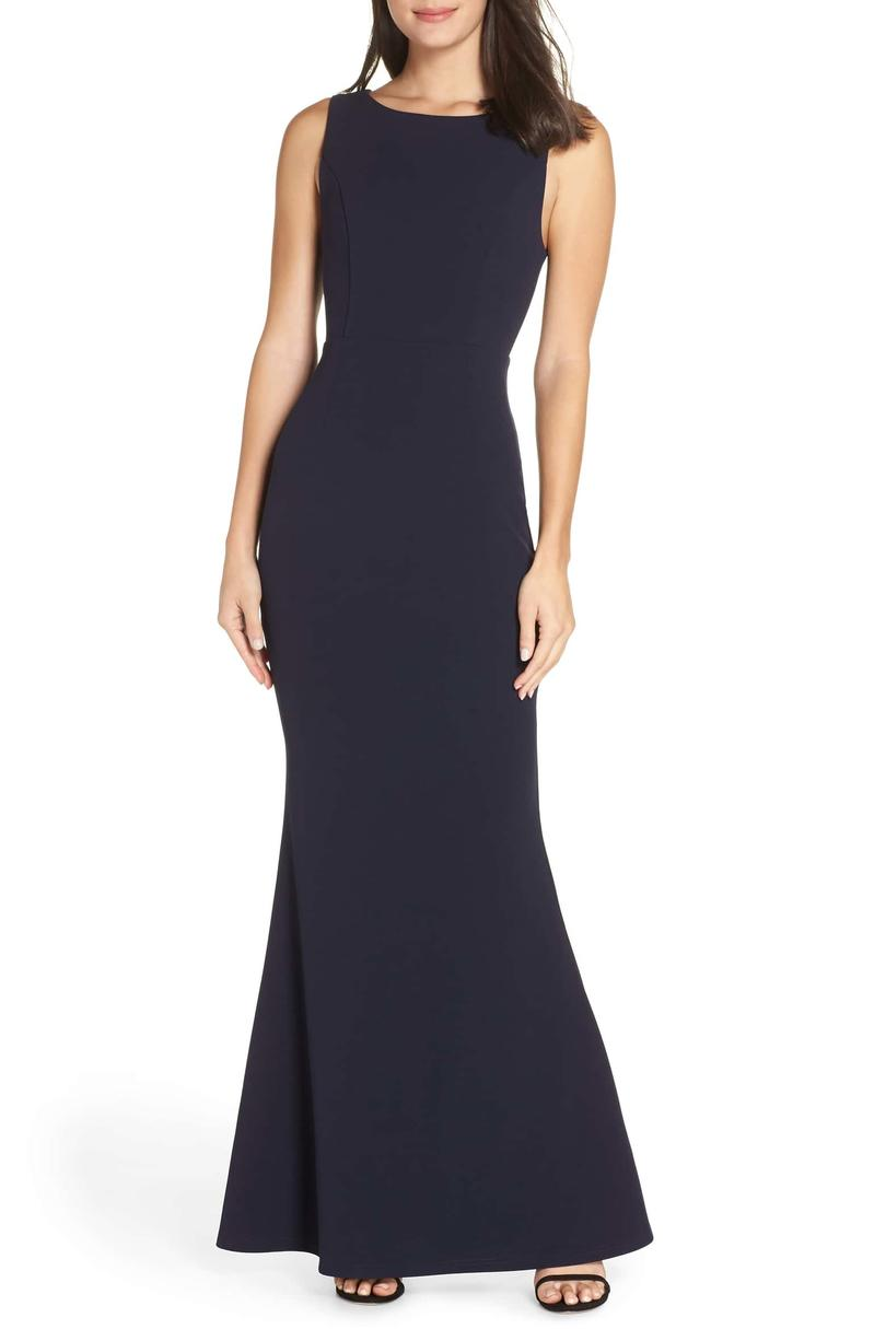 Lulu's Mine Backless Trumpet Gown