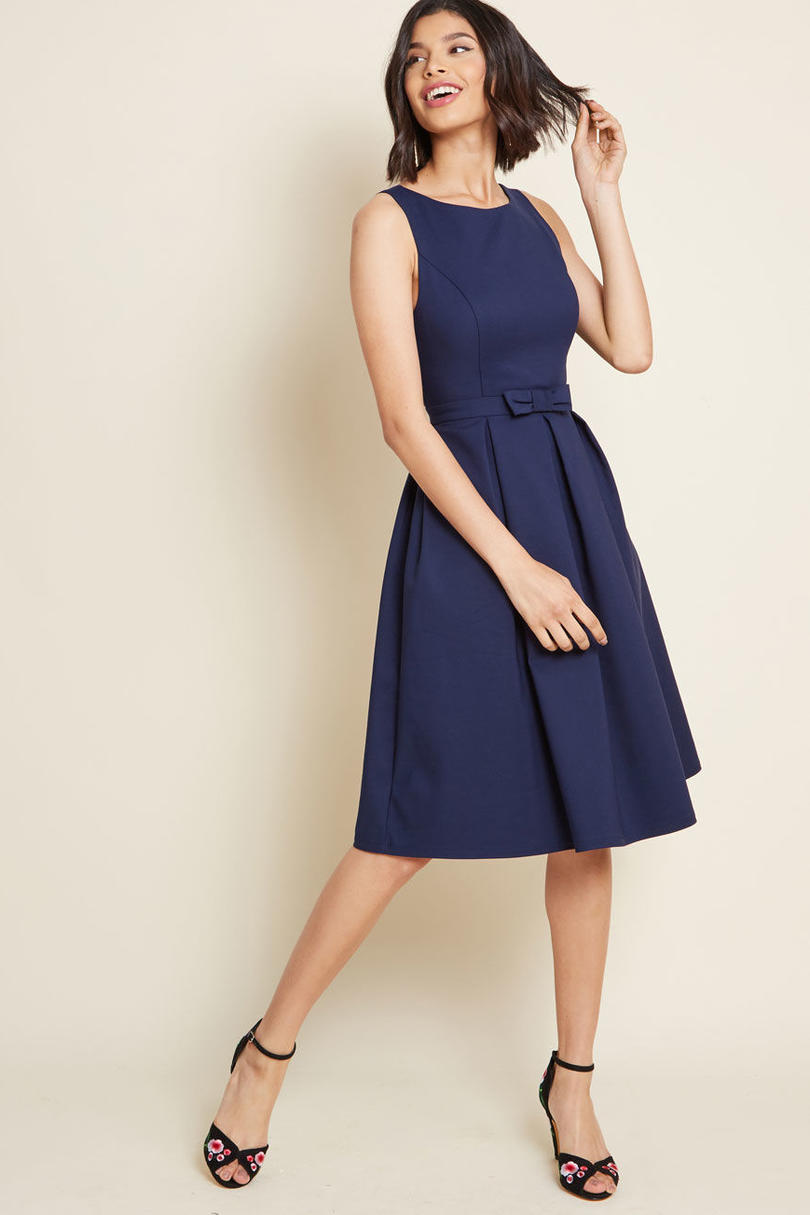 Modcloth Polish Aplenty Fit and Flare Dress