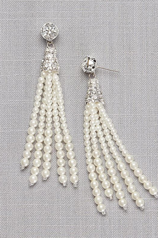 Pear Tassel Earrings