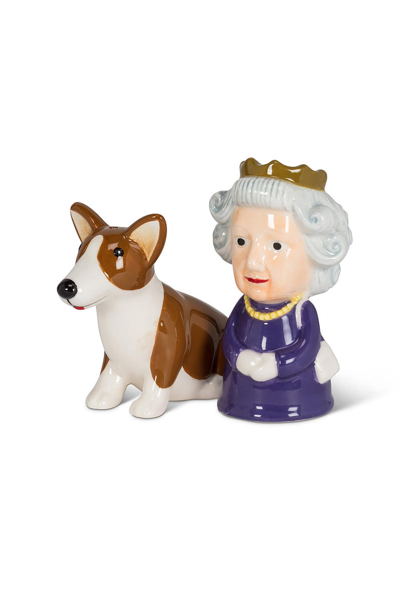 Queen & Corgi Salt and Pepper Shaker Set