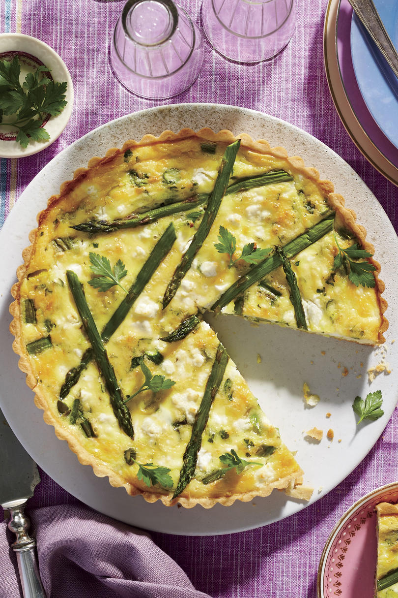 Asparagus-and-Goat Cheese Quiche