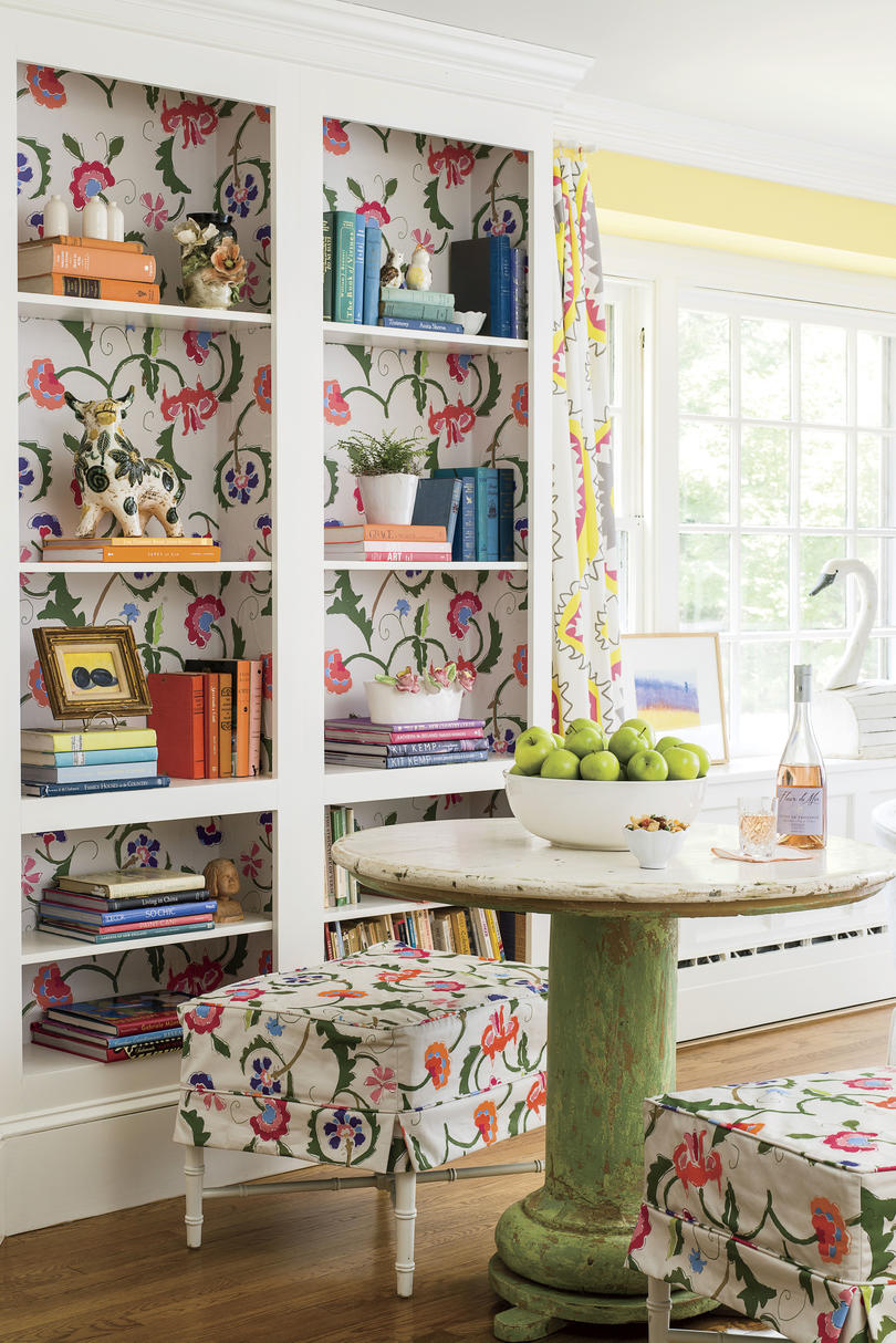 Dana Gibson Colorful Richmond Home Living Room Alcove