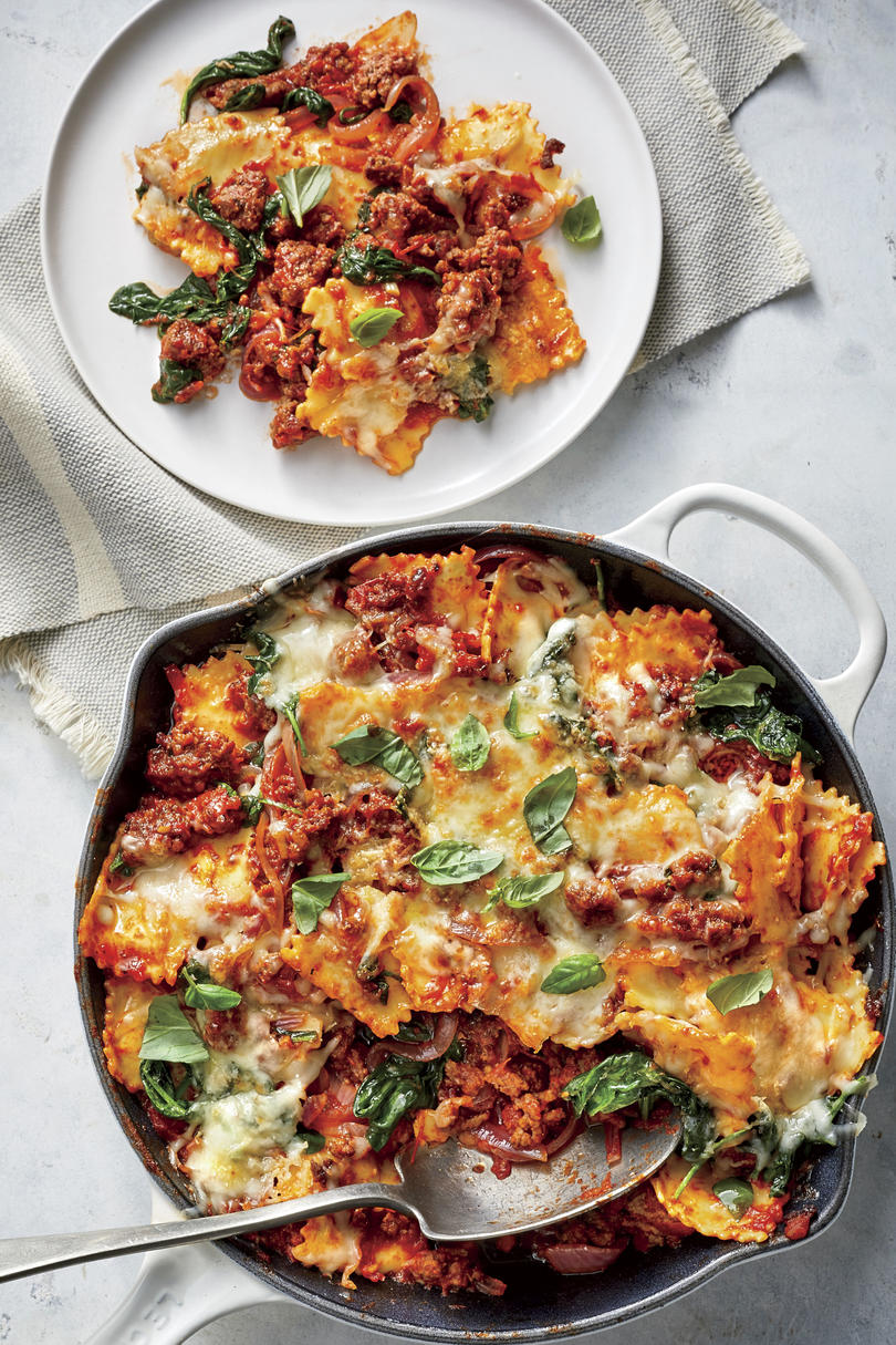RX_1907_Rich and Satisfying Casseroles for Your Family_Cheesy Beef-and-Spinach Ravioli