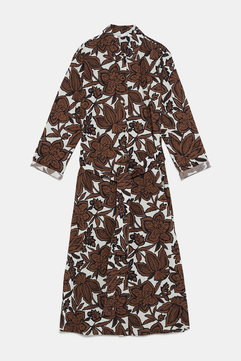 Belted Floral Print Tunic