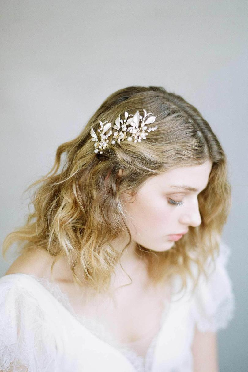 Dainty Blossom and Crystal Hair Pin
