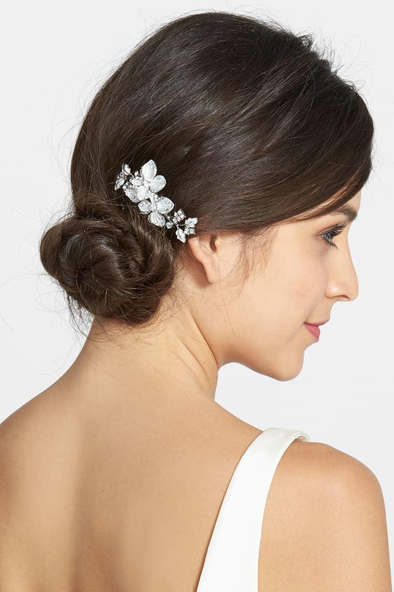 RX_1902_Hair Accessories for Your Wedding Day_Floral Hair Comb