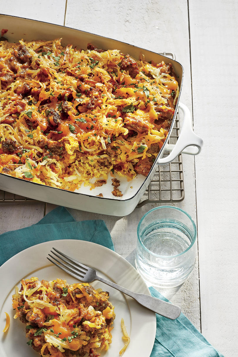Sausage-Hash Brown Breakfast Casserole