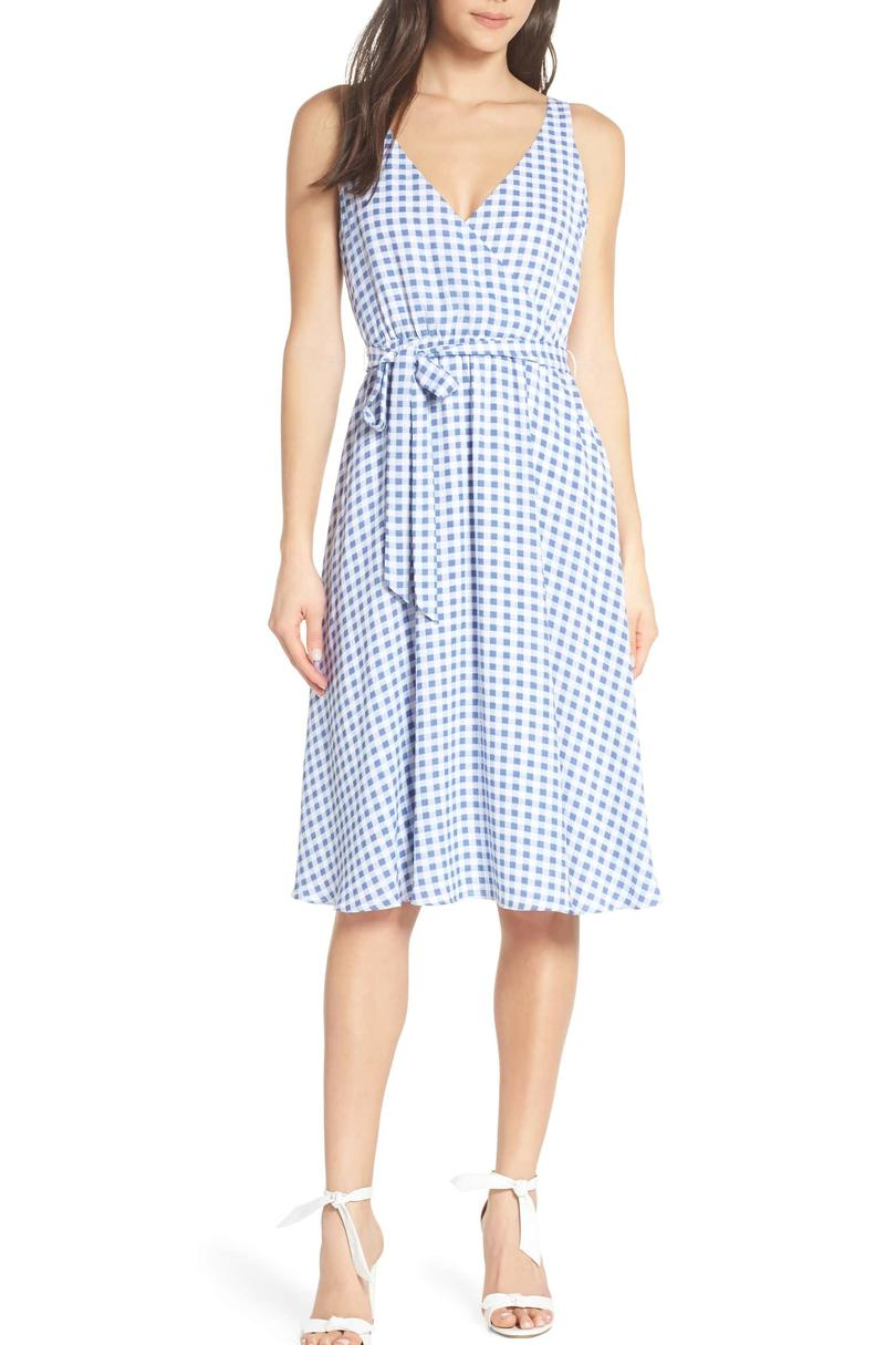 Ali & Jay BH Strolling Faux Wrap Midi Dress