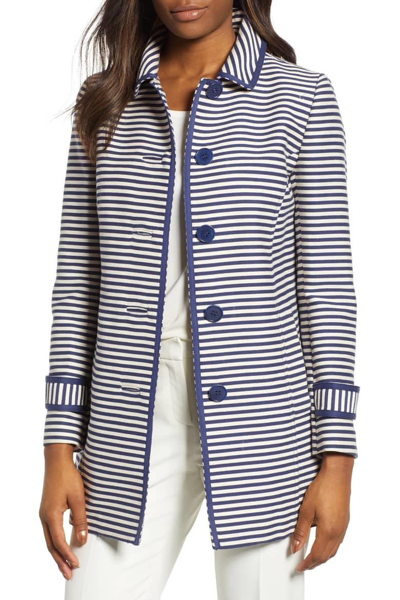 Anne Klein Stripe Topper Jacket