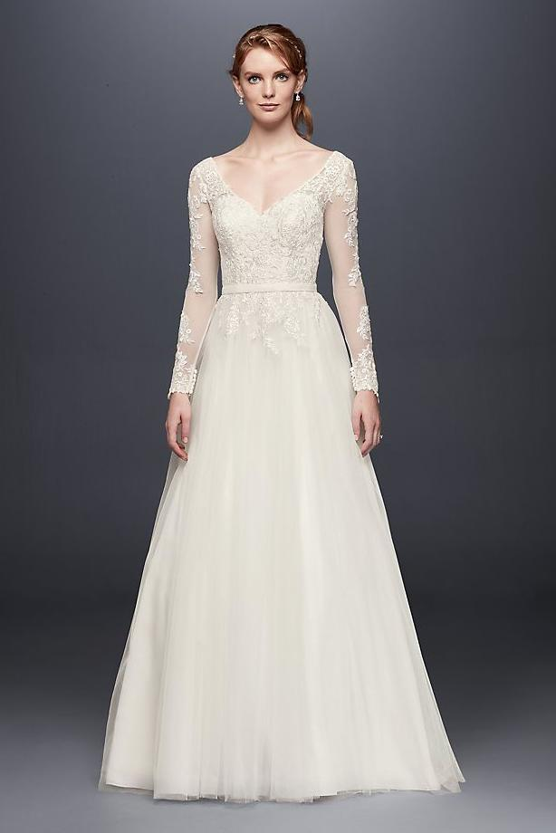 Long Sleeve Wedding Dress with Low Back
