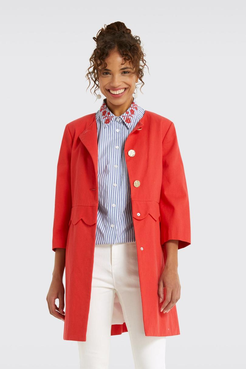 Draper James Scallop Coat